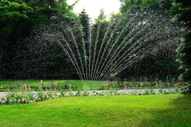 あると便利!植物の水やり用のスプリンクラー設置