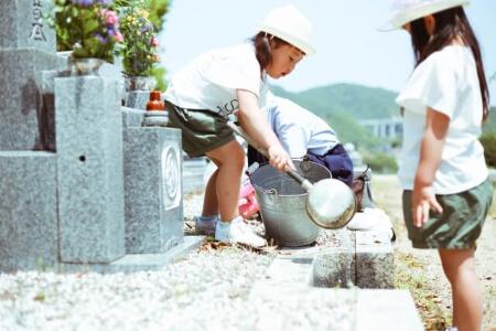 お墓掃除の手順