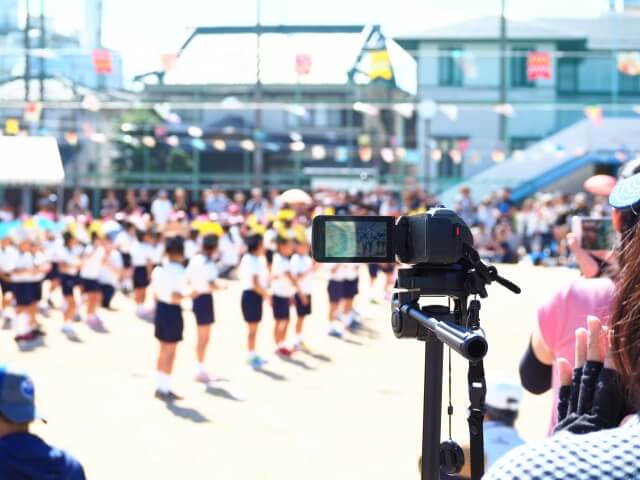 【運動会のビデオ撮影】オススメの商品と運動会のビデオ撮影のポイント