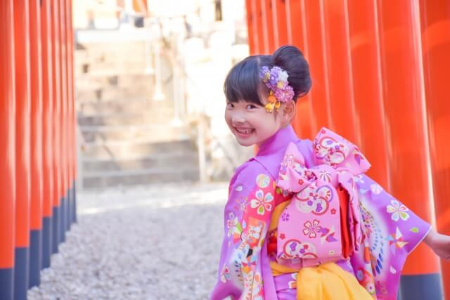 七五三の着付け:7歳の女の子の着付け方