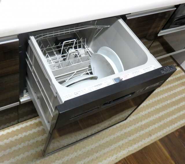 食洗機に付いた黒カビを塩素系漂白剤で掃除する方法