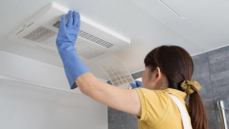 浴室の換気扇から異音がしたら掃除して解決